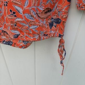 Lucky Brand Tops - Lucky Brand 3/4 Sleeve Orange Top